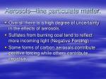 aerosols fine particulate matter