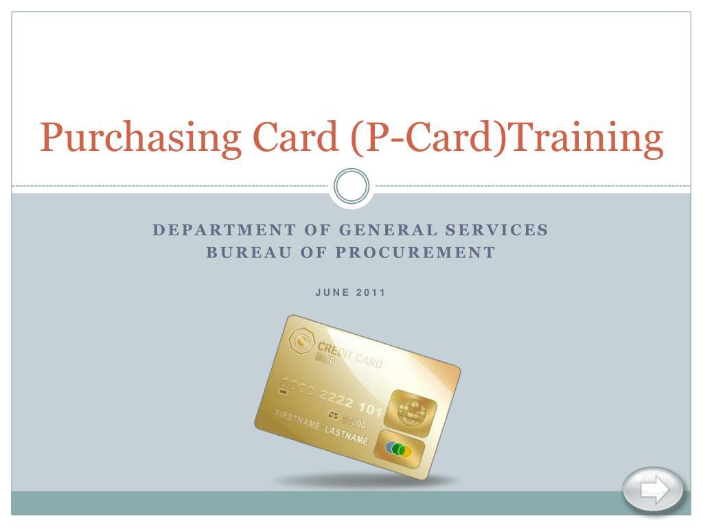 purchasing card p card training l.