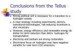 conclusions from the tellus study