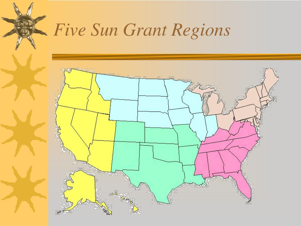 Five Sun Grant Regions