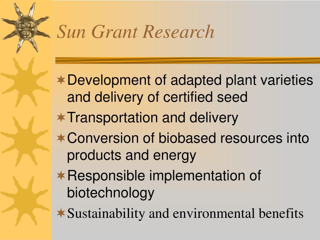 Sun Grant Research