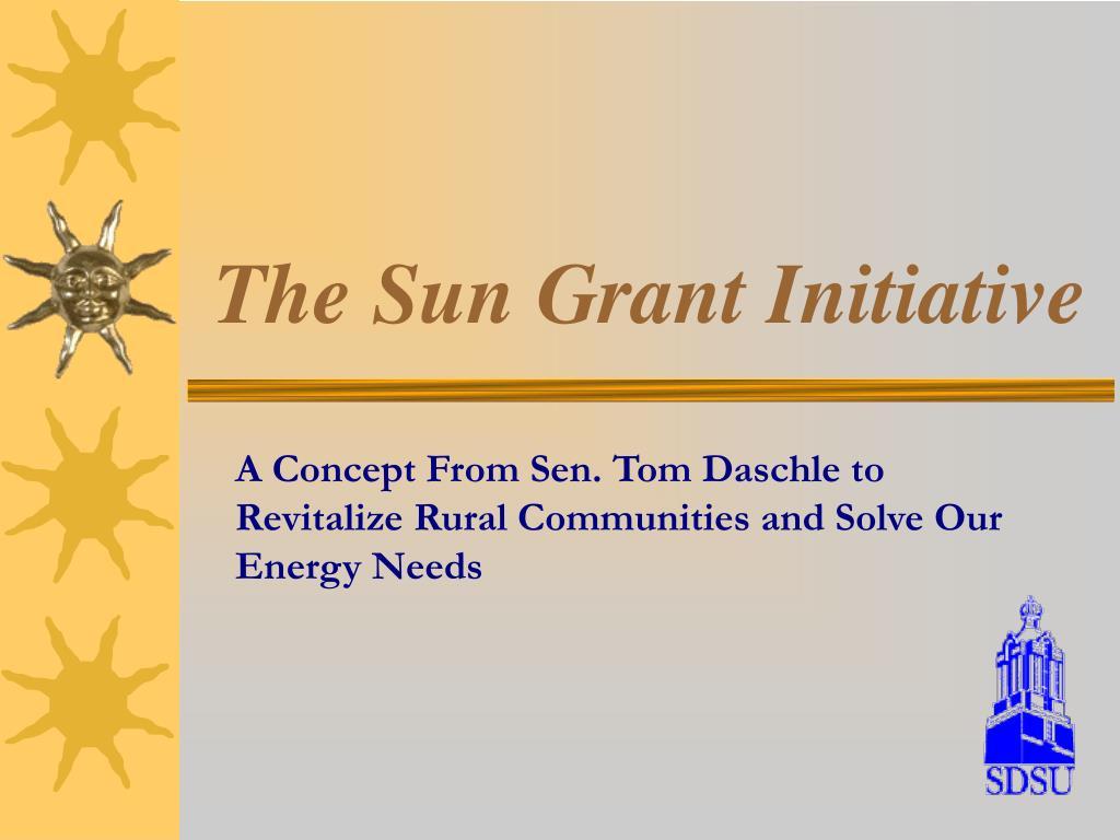 the sun grant initiative l.