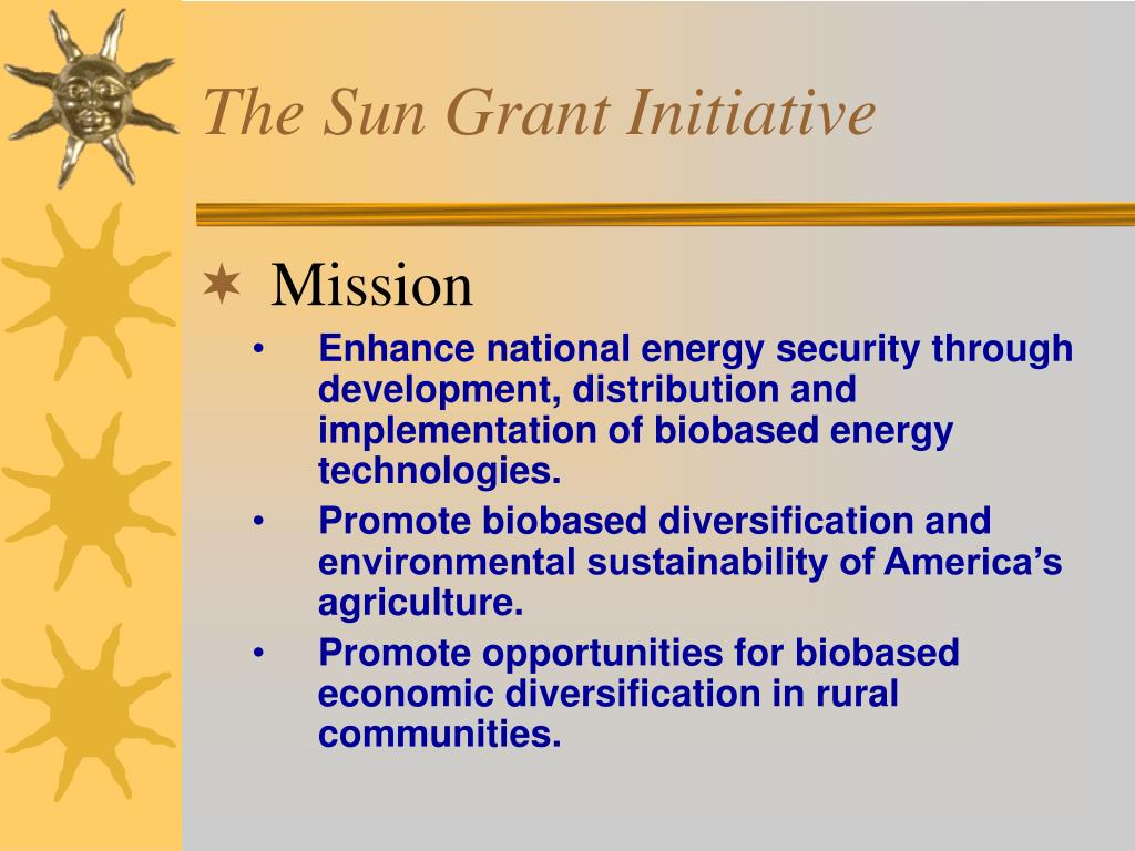 The Sun Grant Initiative