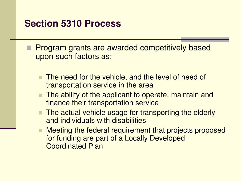 Section 5310 Process