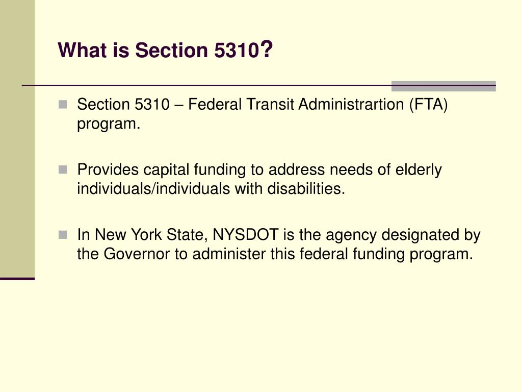 What is Section 5310