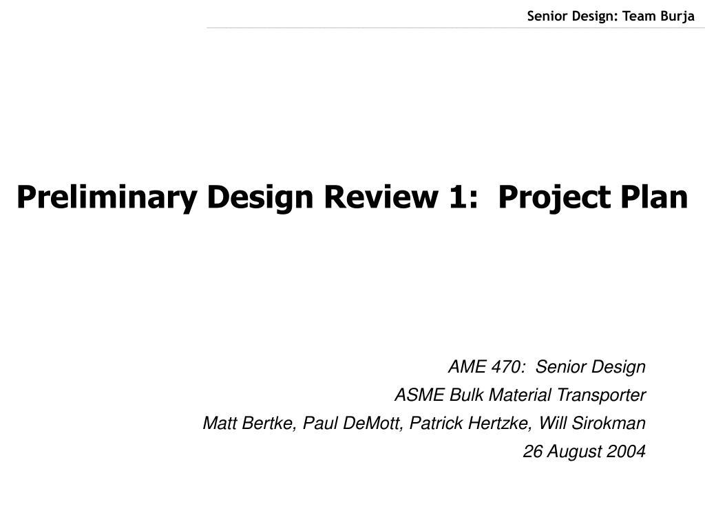 Senior Design: Team Burja