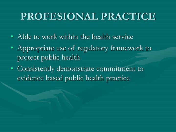 Profesional practice