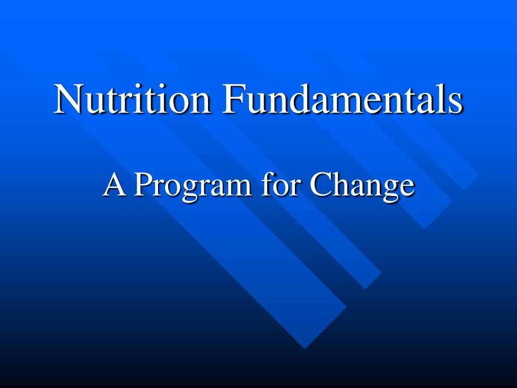 nutrition fundamentals l.