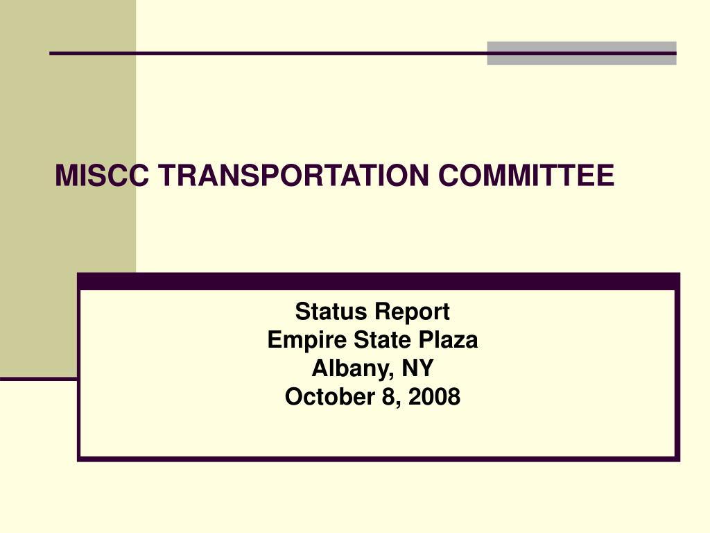 miscc transportation committee