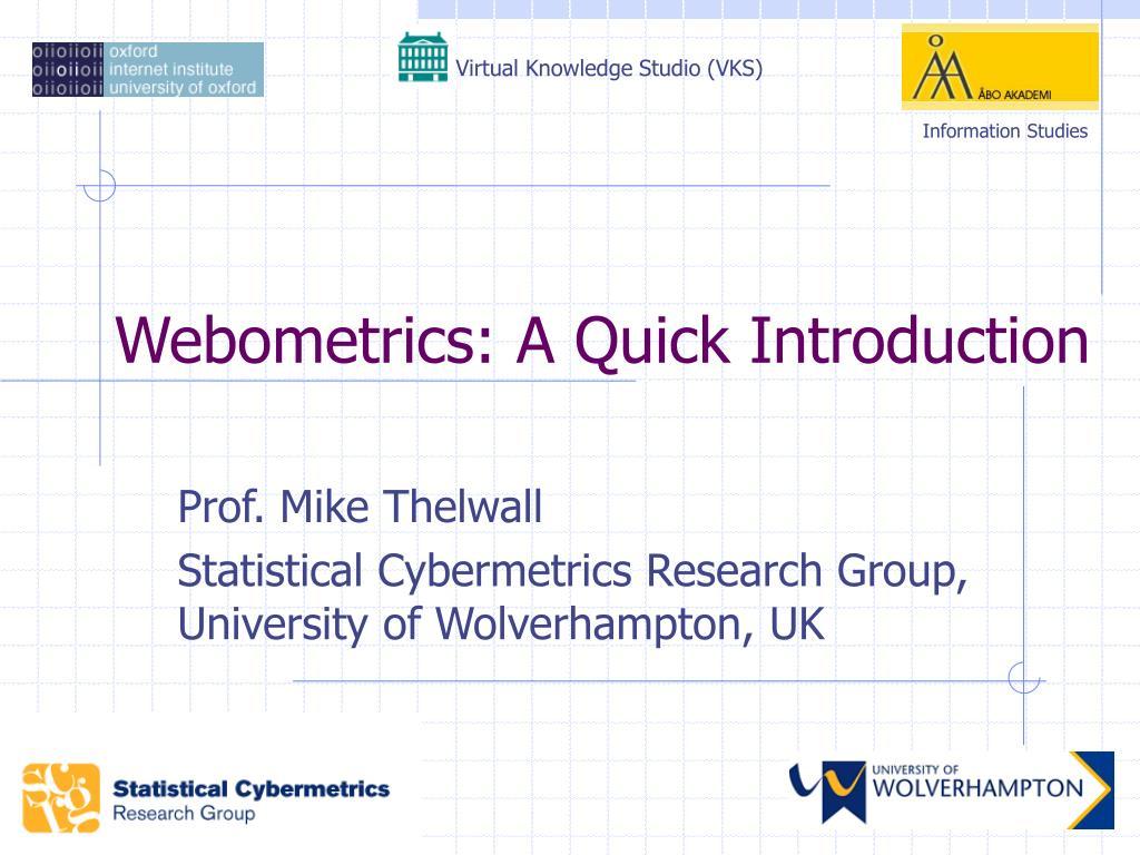 Ppt Webometrics A Quick Introduction Powerpoint Presentation Id Intranet Network Diagram Photo Album Diagrams L