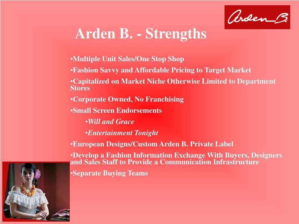 Arden B. - Strengths