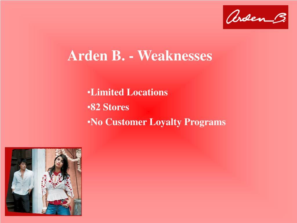 Arden B. - Weaknesses