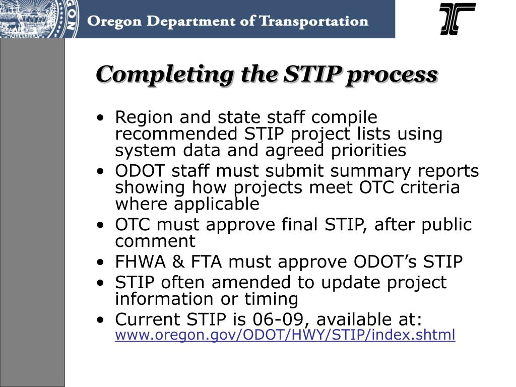 Completing the STIP process