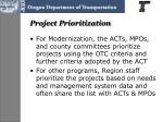 project prioritization
