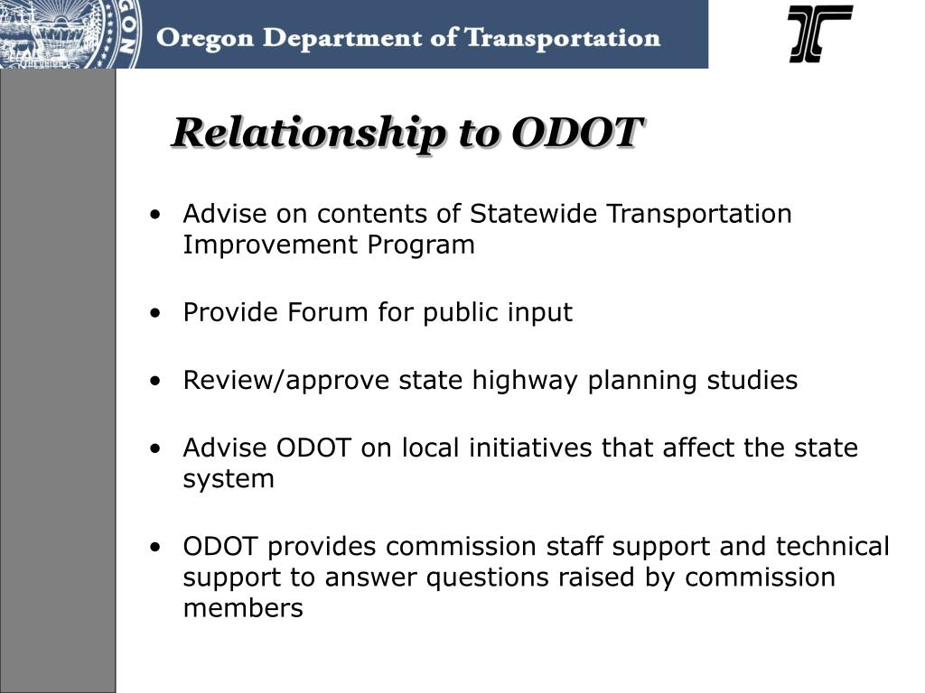 Relationship to ODOT