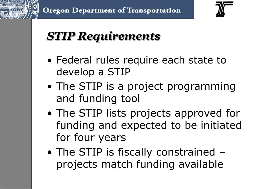STIP Requirements