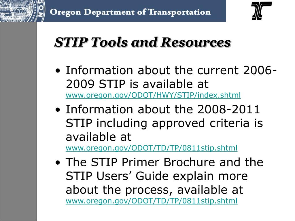 STIP Tools and Resources