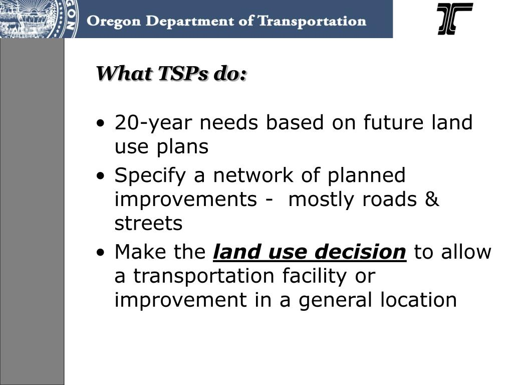 What TSPs do: