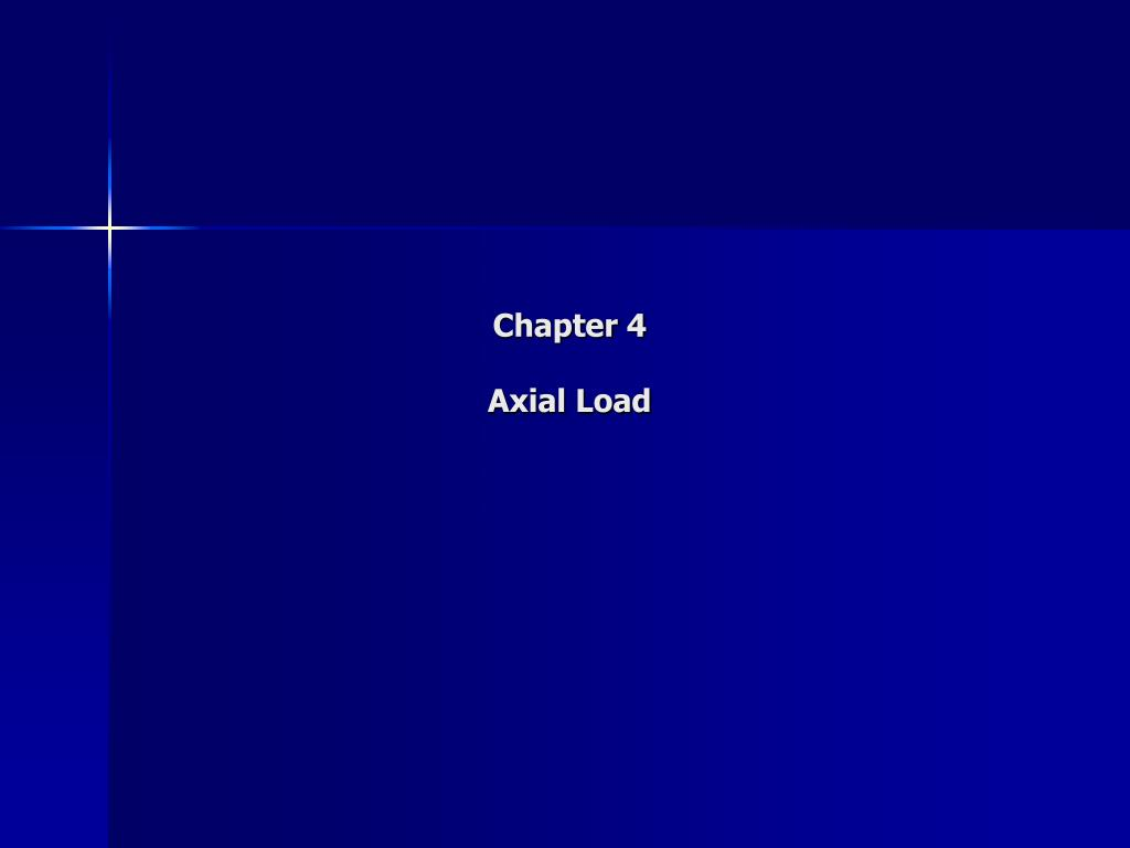 chapter 4 axial load