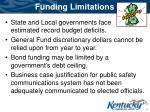 funding limitations