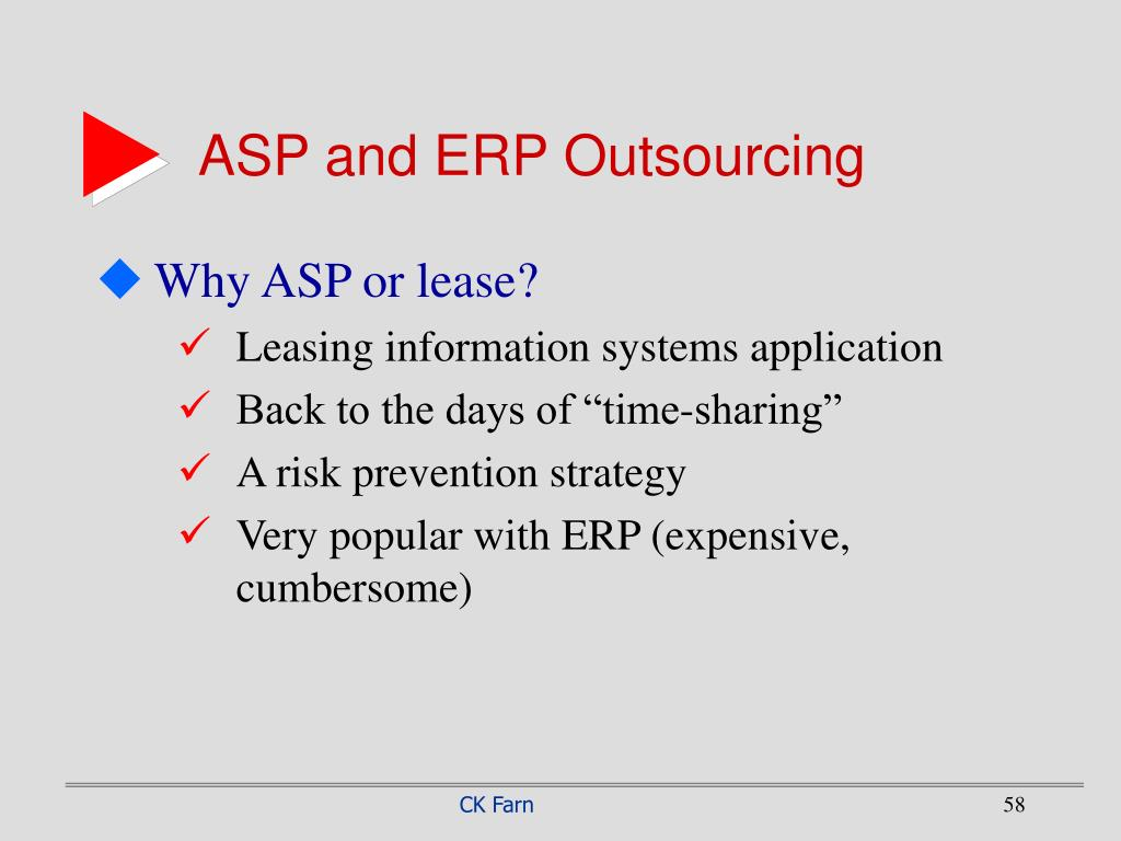 ASP and ERP Outsourcing