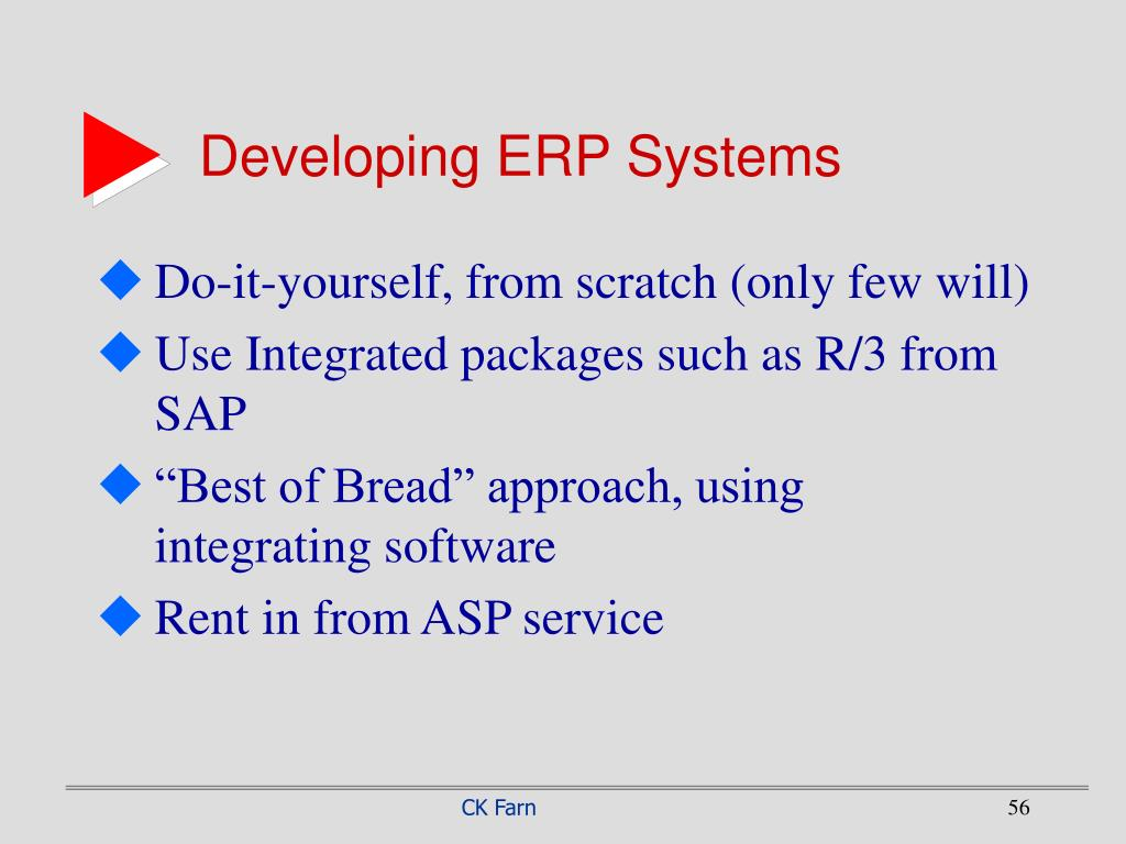 Developing ERP Systems