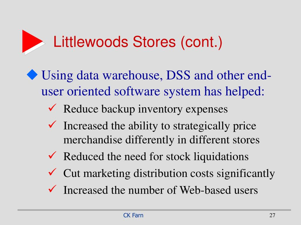 Littlewoods Stores (cont.)