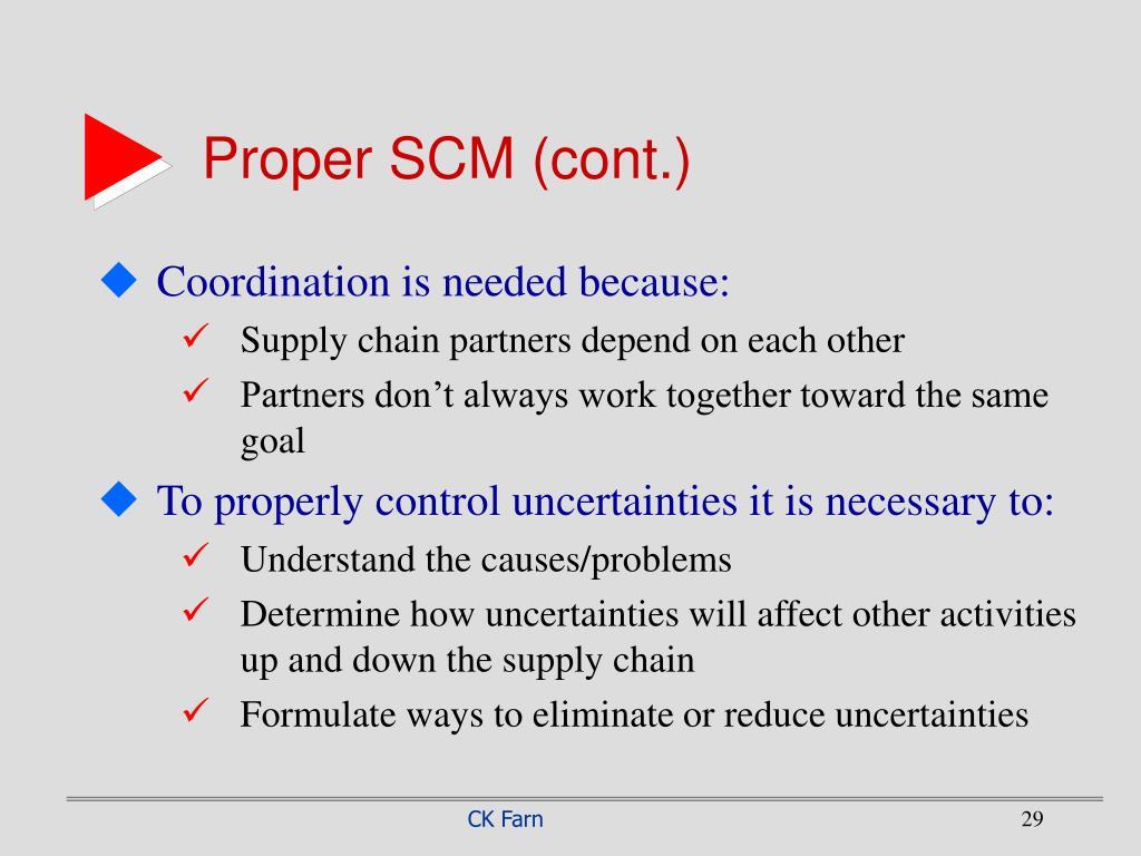 Proper SCM (cont.)