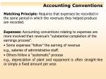 accounting conventions
