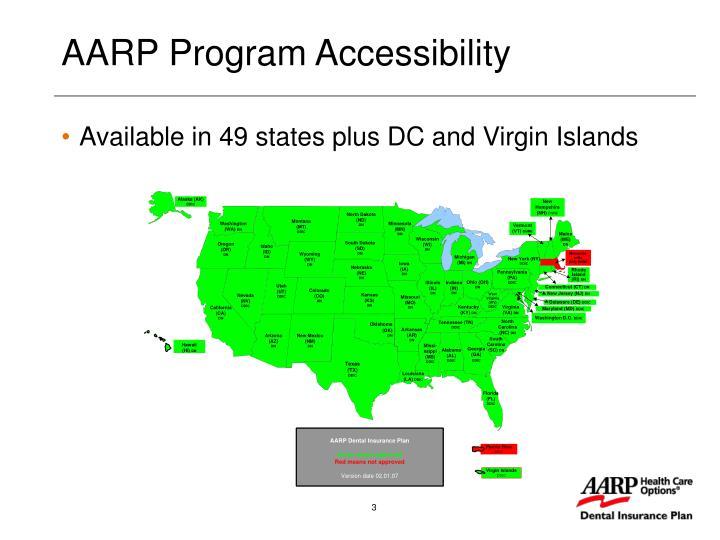 Aarp program accessibility