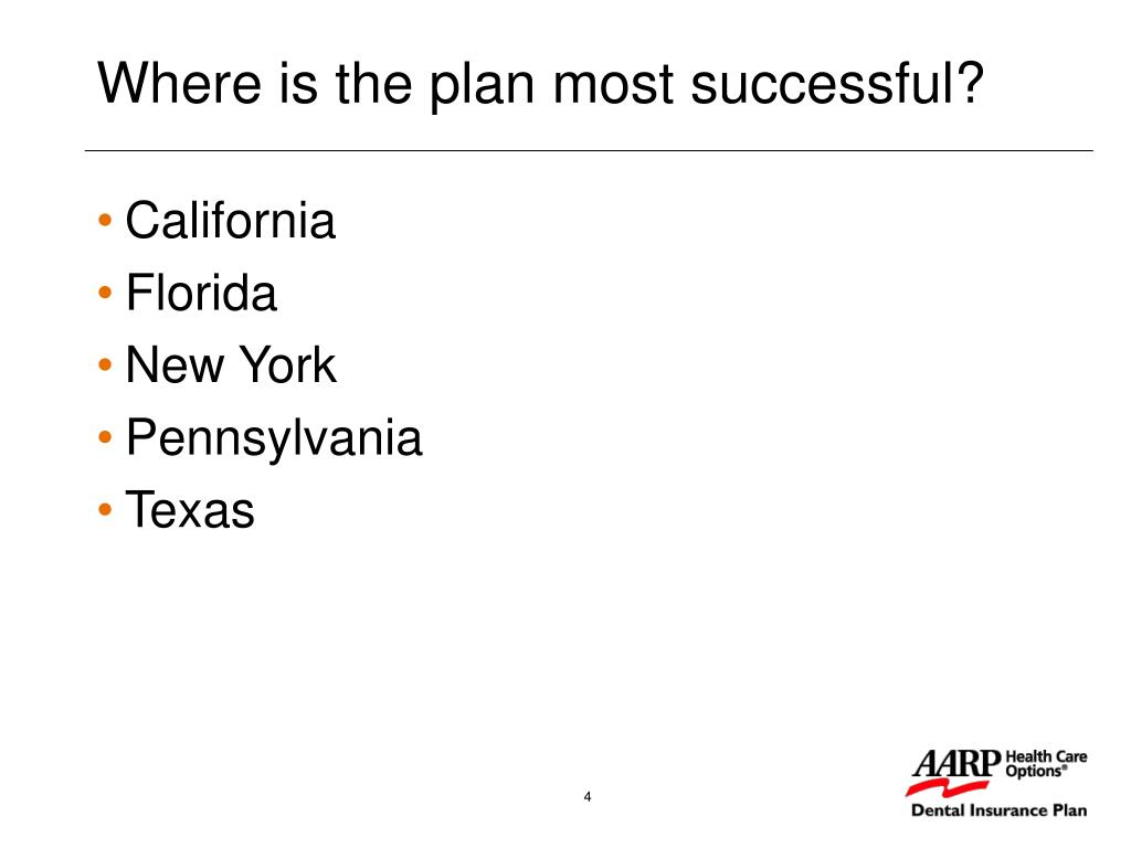Where is the plan most successful?