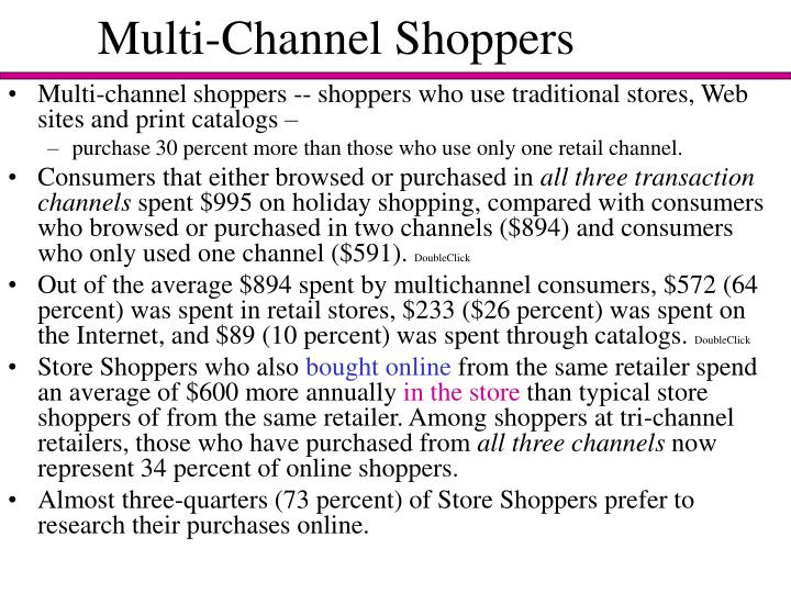 Multi channel shoppers