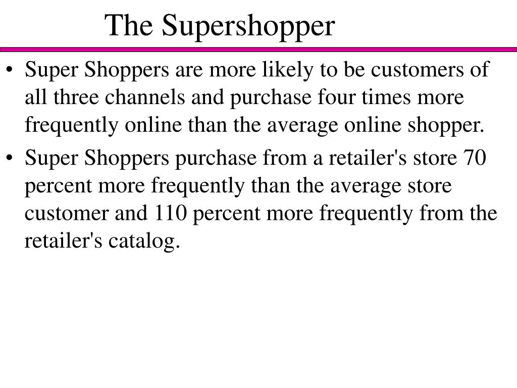The Supershopper