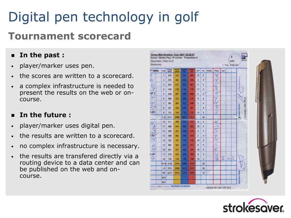 Tournament scorecard