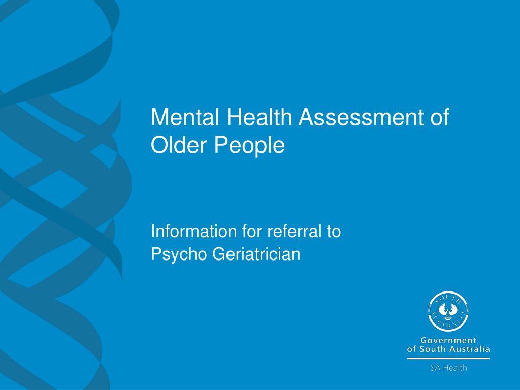 mental health assessment of older people l.