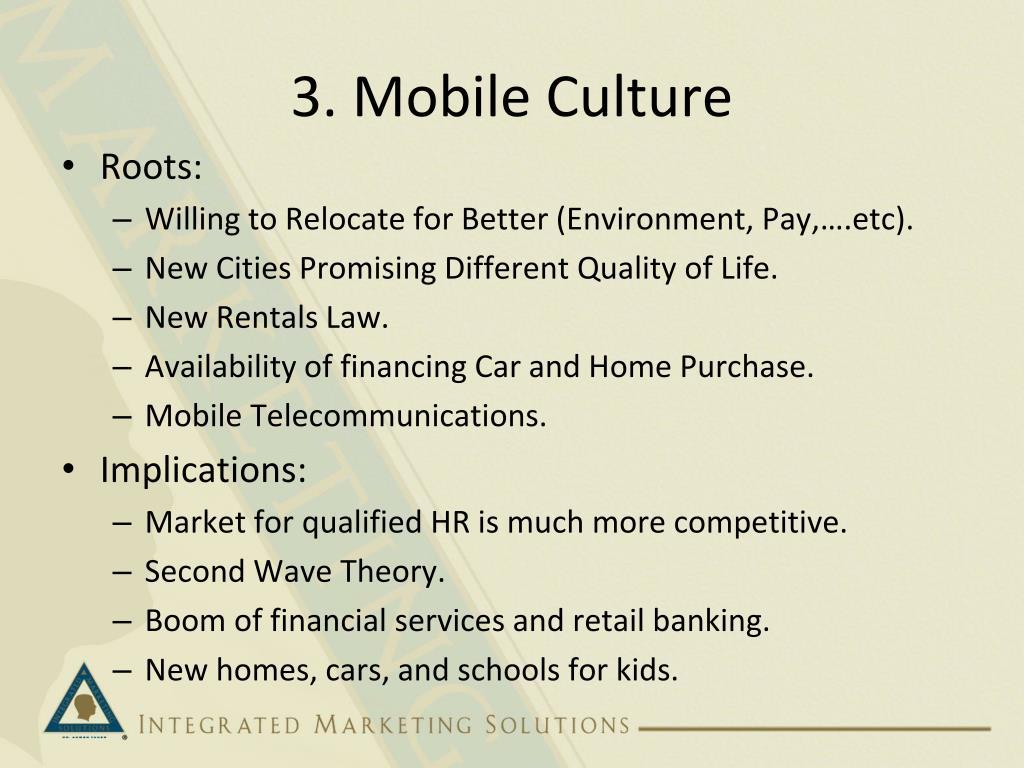 3. Mobile Culture