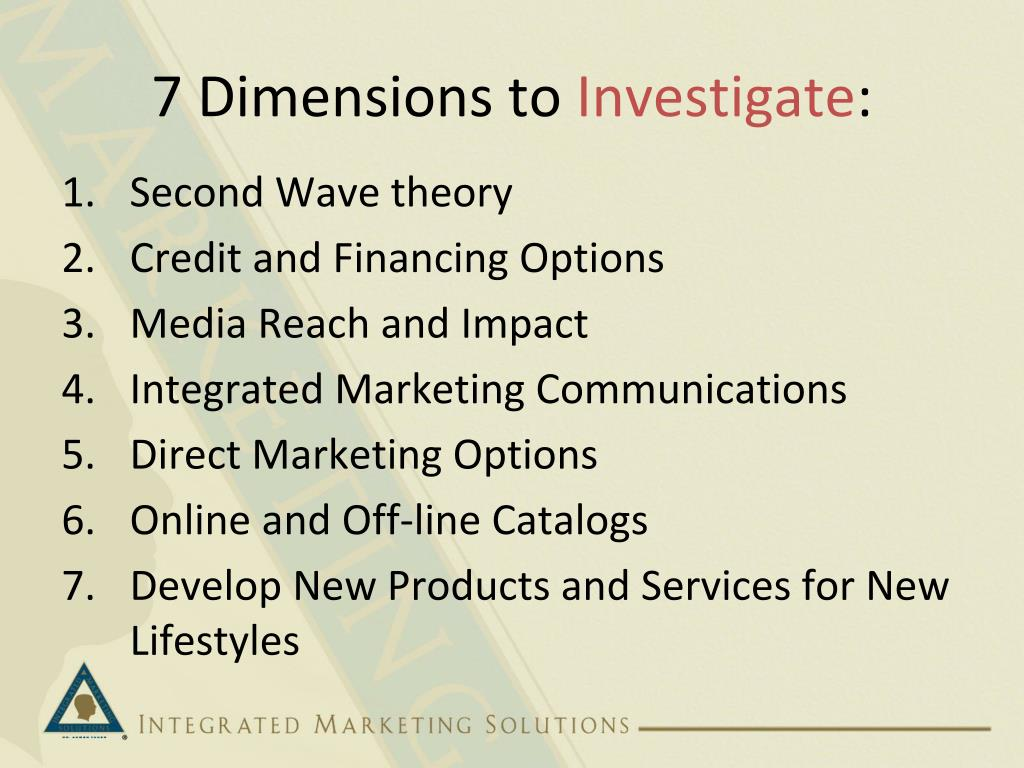7 Dimensions to