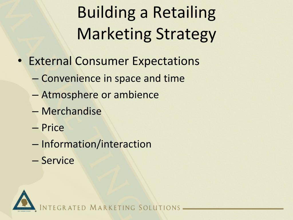 Building a Retailing
