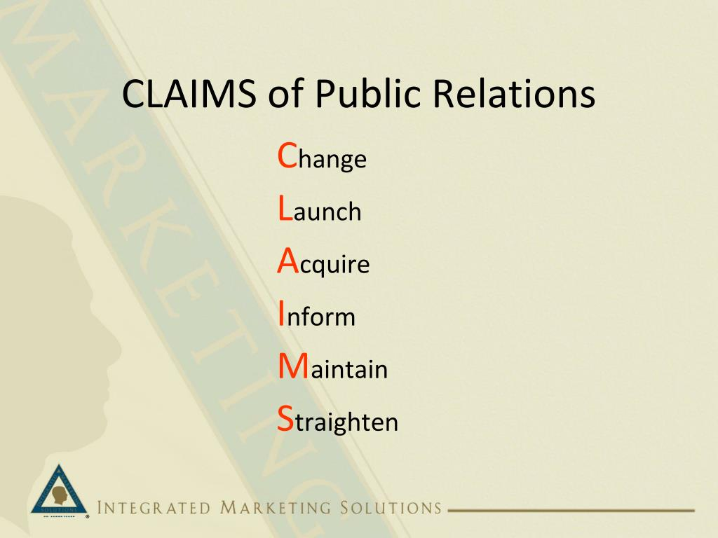 CLAIMS of Public Relations