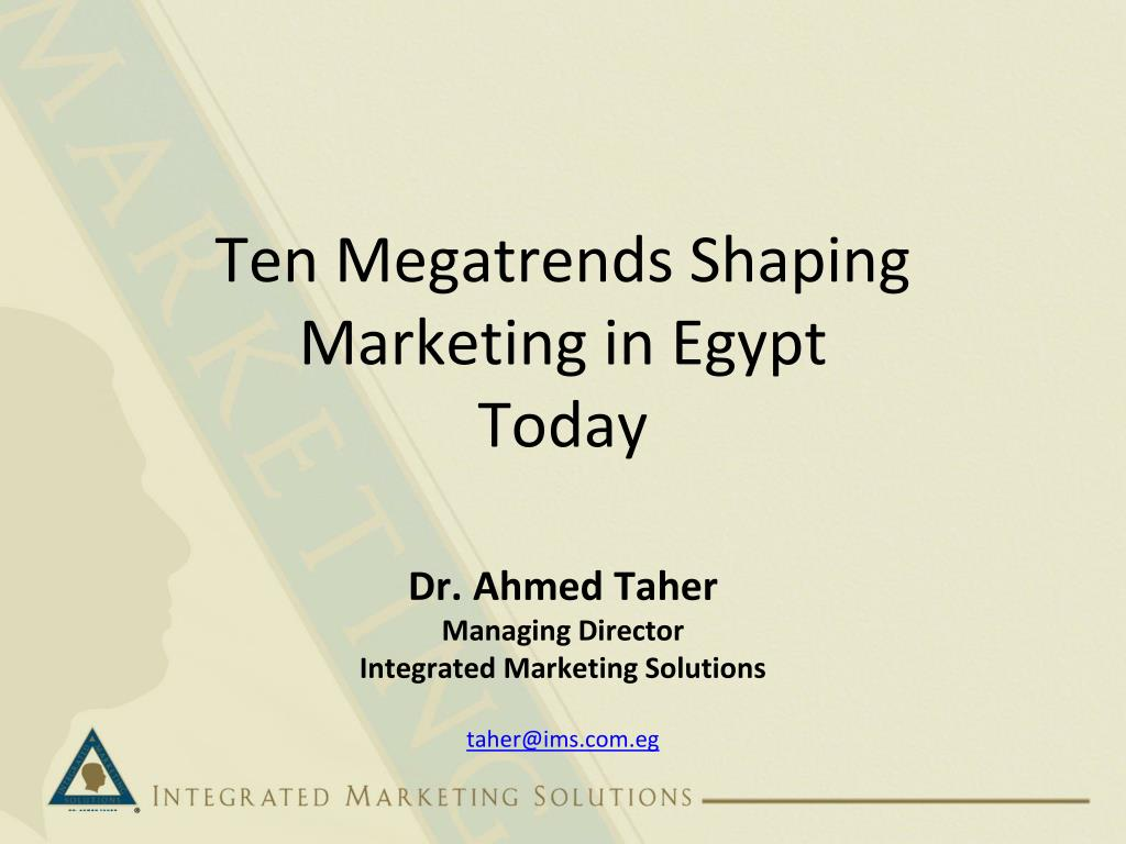 Ten Megatrends Shaping Marketing in Egypt