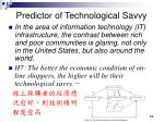 predictor of technological savvy