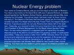 nuclear energy problem