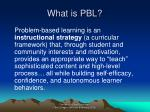 what is pbl