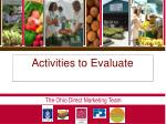 activities to evaluate