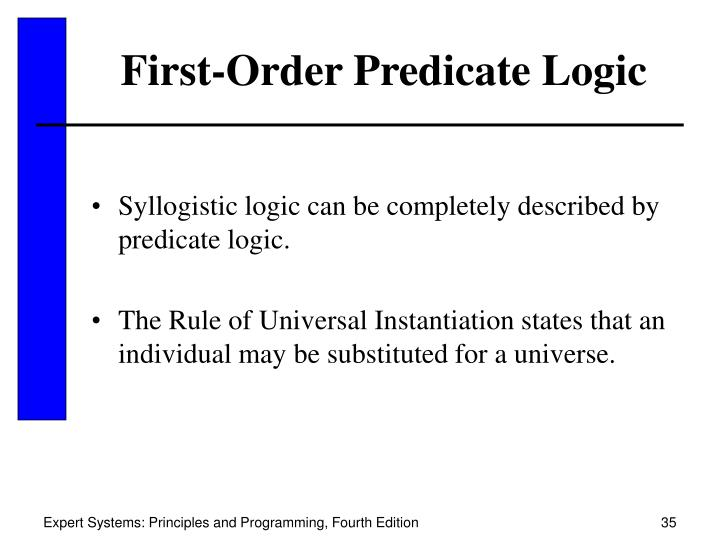 First-Order Predicate Logic