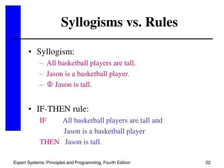 Syllogisms vs. Rules