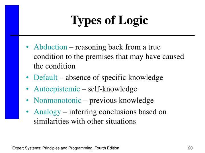 Types of Logic