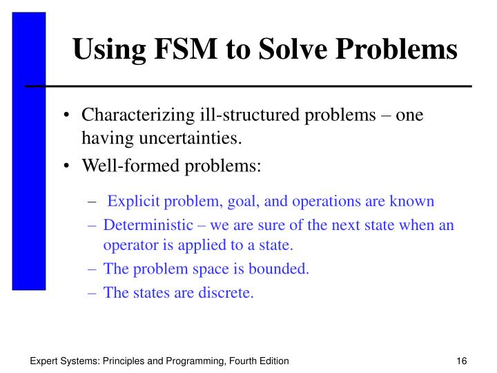 Using FSM to Solve Problems