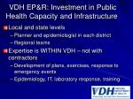 vdh ep r investment in public health capacity and infrastructure