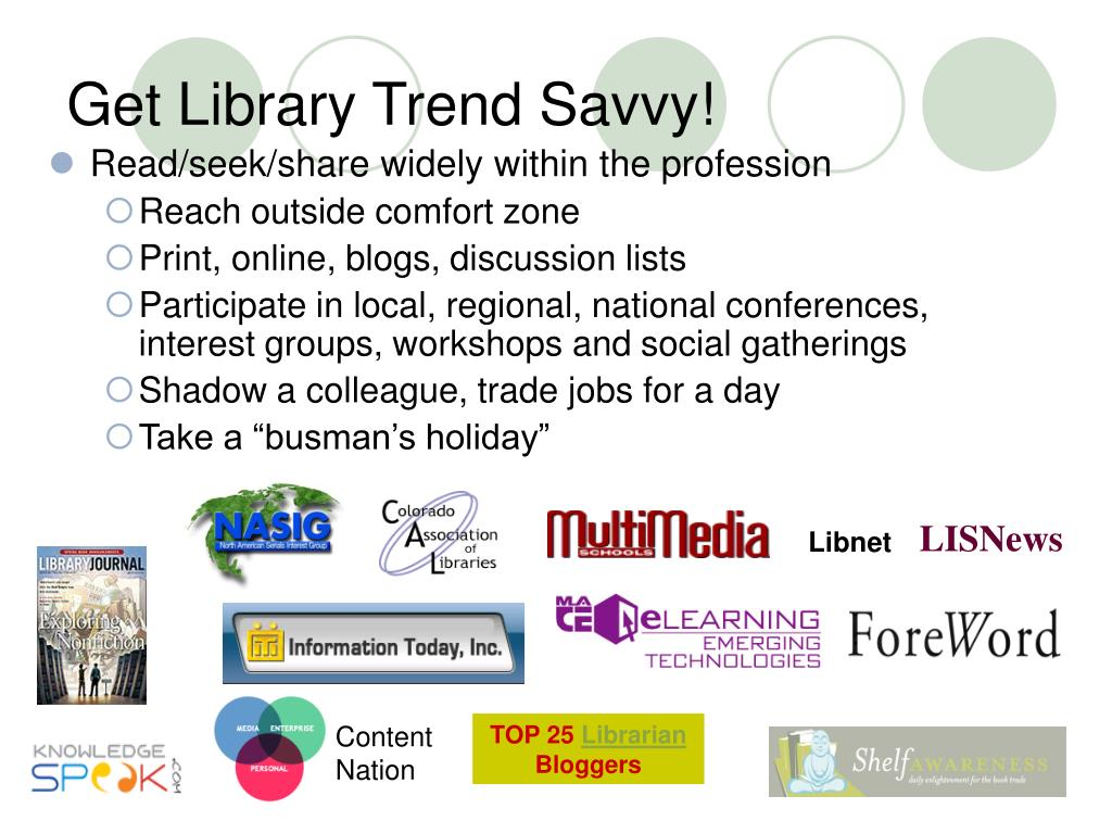 Get Library Trend Savvy!